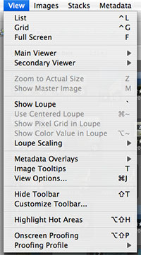 Apple Aperture shortcuts