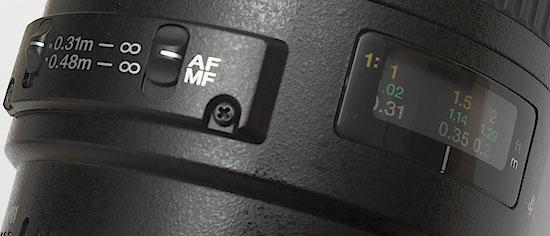 Canon EF 100 f/2.8 USM macro - focus switch