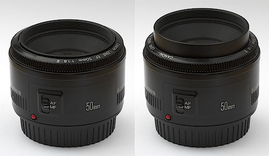 Canon EF 50 f/1.8 - Lens extends while focusing