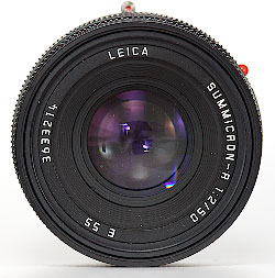 Leica Summicron-R 50mm f/2.0 - Front